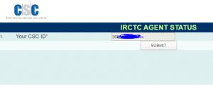 IRCTC Agent ID Find