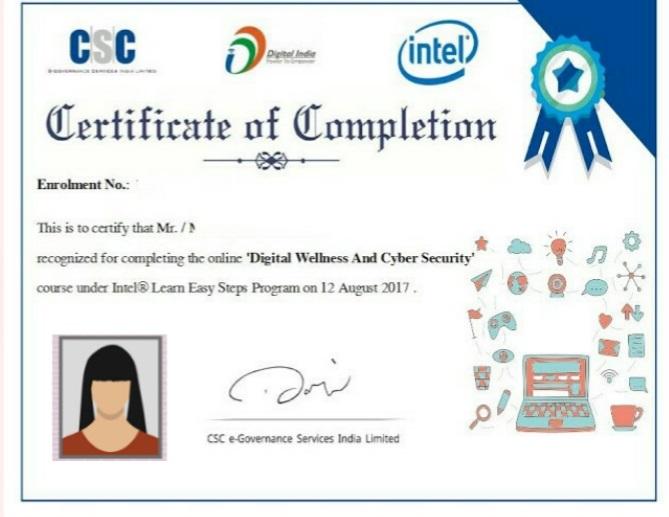 CSC Certificate Download  | Online VLE Certificate Download 2021