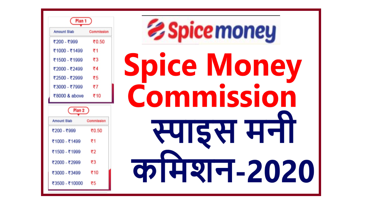 Spice Money Commission List 2021, Spice Money Atm Commission