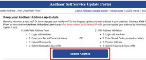 Aadhar address update 2020 Aadhar Card update