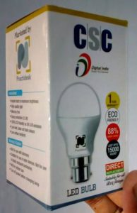CSC LED bulb VLE society registration