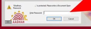 Aadhaar Card Password Aadhaar PDF Password