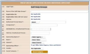 SHG Group registration CSC Self Help Group