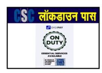 CSC VLE digipay lockdown e-pass download,Digipay Identy Card print